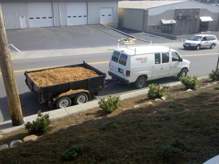 Dump Trailer for removing dirt from foundation work