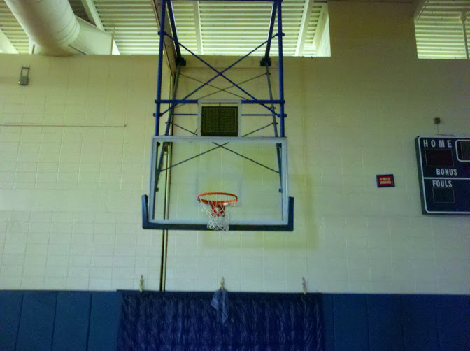 Bluefield-State College, Bluefield WV Original Basketball Goal