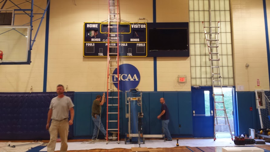 Bluefield State College New Basketball Scoreboard.