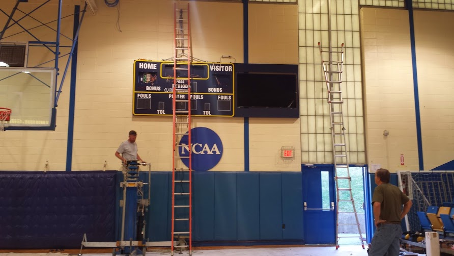 Bluefield State College - Completed Basketball Scoreboard Installation