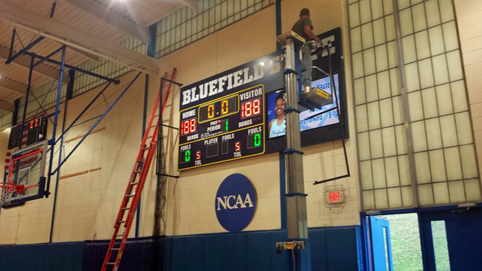Bluefield State College Basketball Goal