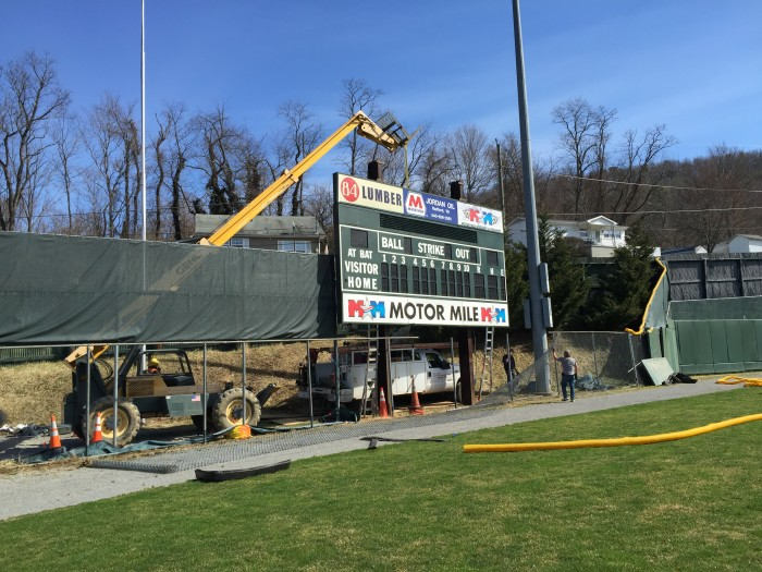 Old scoreboard installed by Time Technologies, Inc. back in the 1990's is being replaced with a state of the art video display!