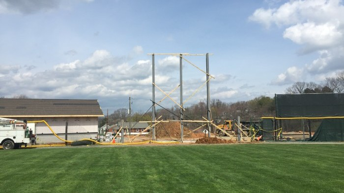 Time Technologies, Inc. installed all steel I beams and is ready for the video display to be installed.
