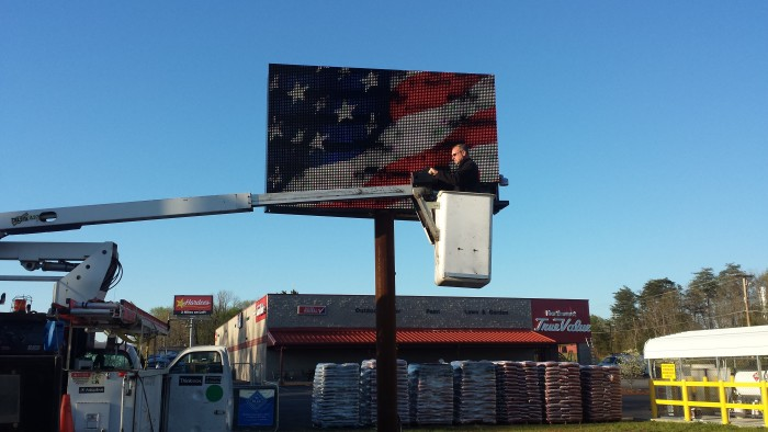 Northwest Hardware LED Display Final Hookup in Ridgeway, VA