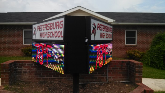 Petersburg HS in West Virginia Adds Electronic Message Centers
