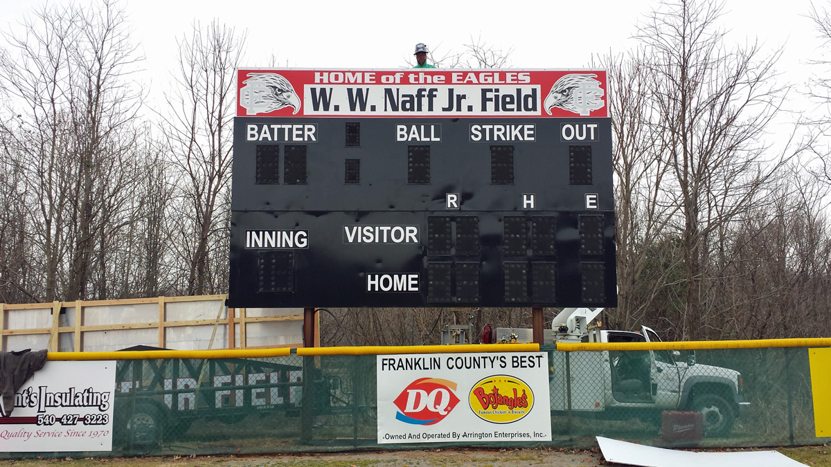 Franklin County High School Scoreboard at Site Survey