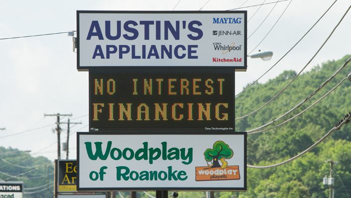 Austin's Appliance Programmable Electronic Sign