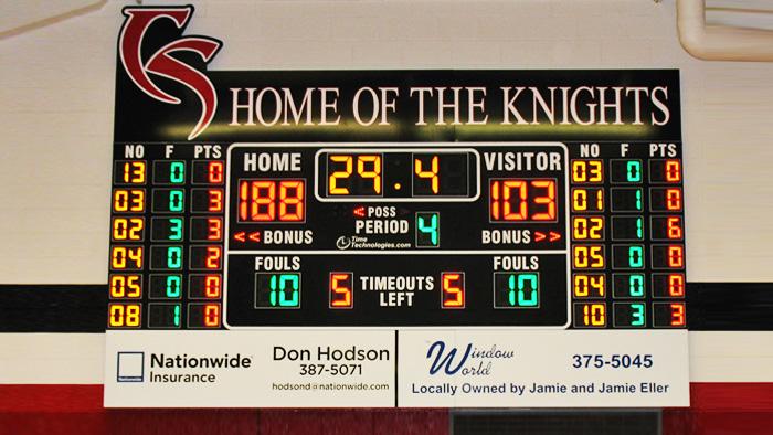Scoreboard Installation